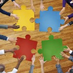 Business People Connection Corporate Jigsaw Puzzle Concept